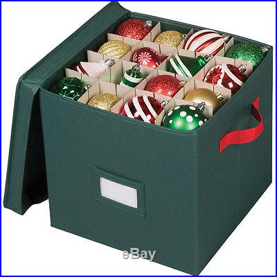 Christmas Ornament Storage Box with Lid 64 Compartments