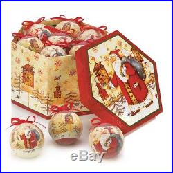 Christmas Ornaments Birds Vintage 12 Set Santa Holiday Birdhouse Decor Small New