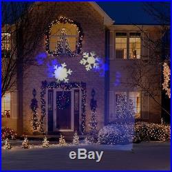 Christmas Outdoor Decoration Blue White Snowflake LED Light Effect Frozen