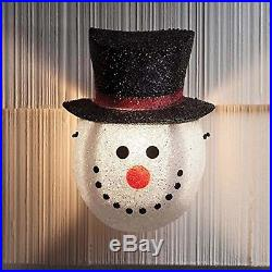 Christmas Outdoor Porch Light Cover Festive Snowman Holiday Decoration NEW