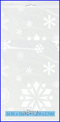 Christmas Plastic Table Cover Snowflakes Party Supplies