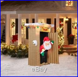Christmas Pooping Santa Inflatable Outhouse Air Blow Up Holiday LED Lights 6