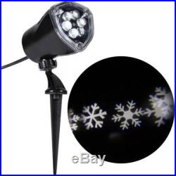 Christmas Projection Light White LED Snow Flurry Flake Outdoor Lawn Yard Holiday