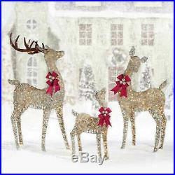 Christmas Reindeer Family Set Of 3 Deer Indoor/outdoor 650 Led Lights Christmas