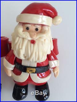 Christmas Santa Claus NAPKIN RING Holder Table Decor Holiday Seasonal Set Of 4