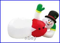 Christmas Santa Huge 20 Ft Snowman Lazy Lounging Relax Inflatable Airblown
