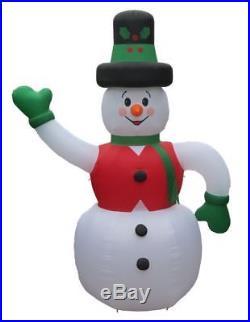 Christmas Santa Huge Snowman Airblown Inflatable 20 Ft