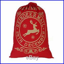 Christmas Santa Sack XMAS Gift Sack Stocking Storage Burlap Bag Wholesale Price
