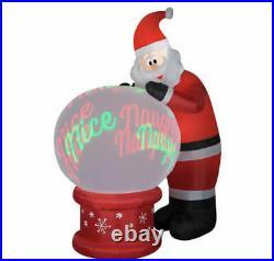 Christmas Santa Snowglobe Animated Naughty Nice 9 Ft Inflatable Airblown Gemmy
