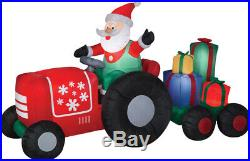 Christmas Santa Tractor Presents Farm Life Inflatable Airblown Yard Decoration