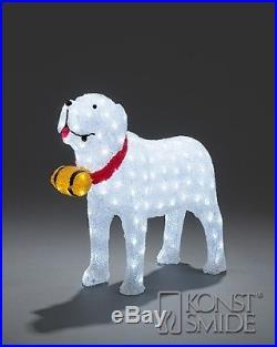 Christmas St Bernard LED Outdoor Decoration 64cm