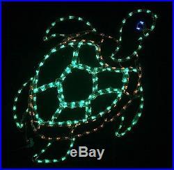 Christmas Summer Sea Turtle Tortoise Yard LED Lighted Decoration Steel Wireframe