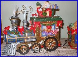 Christmas Train Fiber Optic Santa Center Piece Decoration Holiday EUC