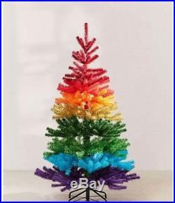 Christmas Tree 5′ Rainbow Faux