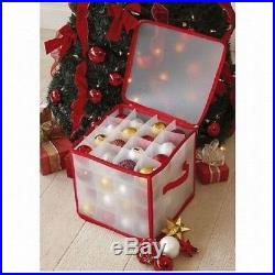 Christmas Tree 64 Bauble Decorations Holder Large Plastic XMAS Storage Bag Box