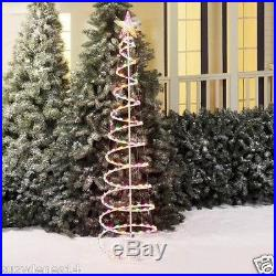 Christmas Tree 6' Tall Lighted Spiral Sculpture 150 Incandescent Holiday Lights