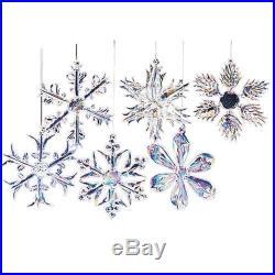 Christmas Tree Decoration Decor Glass Snowflake Ornaments Holiday Xmas Hanging