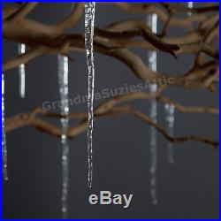 Christmas Tree Icicles Decorations Holiday Festive Glass Outdoor Ornaments Xmas