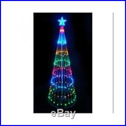 Christmas Tree Lighted Multi Color LED Yard Decoration Xmas Party Garden Decor