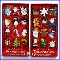 Christmas Tree Ornament Set Miniature 24 Small 1 Ornaments Decoration New Xmas