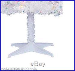 Christmas Tree Pre-Lit 6.5' Madison Pine Xmas Multi Color Lights NEW WHITE