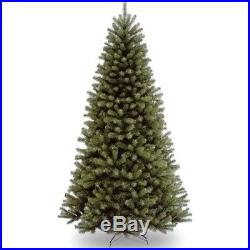 Christmas Tree Trees Artificial Unlit Holiday 7.5 Ft Spruce Hinged Decor
