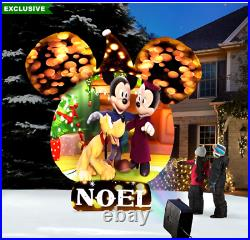 Christmas Video Projecting 8′ Disney Musical Snow Globe Airblown Inflatable Yard