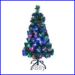 Christmas Workshop 90cm/3ft Fibre Optic Artificial Christmas Tree Green 100 Tips