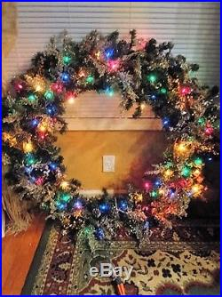 Christmas Wreath 45 in Large Commercial Grade lights Multi Function control