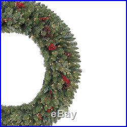 Christmas Wreath Artificial Winslow with 240 Clear LED Lights 60