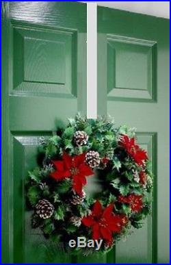 Christmas Wreath Hook Holder Large Over The Door 28cm