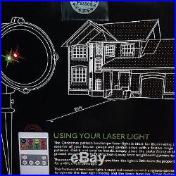 Christmas Xmas Themed Outdoor LED Red/Green Laser Light Projector with Stake