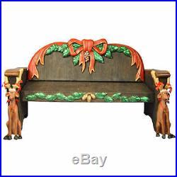 Christmas at Winterland WL-SANTA-BENCH 6.5 Foot Long Life Size Santa Bench Indoo