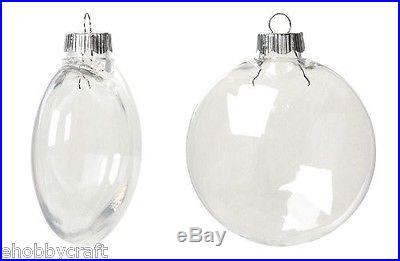 Clear plastic round disc ornaments 80mm great for for Clear plastic balls for crafts