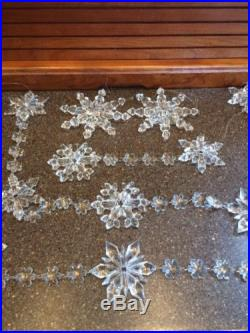 Clear Snowflake Garland Christmas Tree Ornament Holiday Winter Decoration