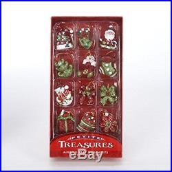 Club Pack of 288 Christmas Brights Mini Glittered Christmas Ornaments 1.25