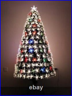 Color Changing Fiber Optic Christmas Tree With Multi-color LED Lights Pre-lit