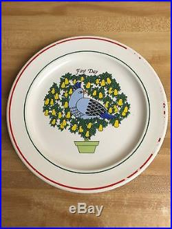 Complete 12 Days of Christmas Plates/Dishes Set TAYLORTON POTTERIES 10.5