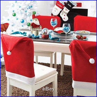 Cozy Christmas Dinner Decoration Decor Santa Clause Red