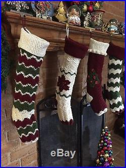 Crochet Christmas Stocking set Handmade