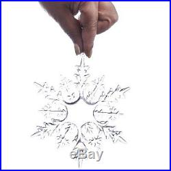 Crystal Clear Snowflake Christmas Ornament 6 Pcs 6 Diameter Wedding Party New
