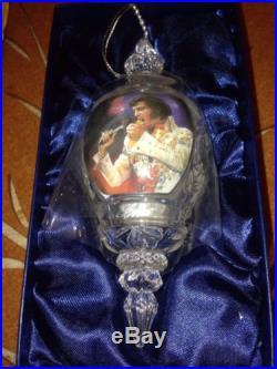 Crystal Elvis Ornament NIB