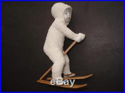 Cww1 Vintage Rare Giant Size Bisque Snow Baby Skier Christmas Cake Decoration