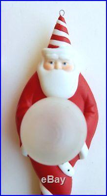 DEPT. 56 CHRISTMAS ORNAMENTS SANTA CLAUS SET OF 2 CERAMIC/GLASS