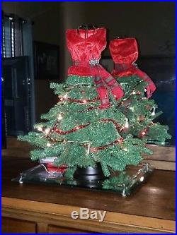 DRESS FORM MANNEQUIN ARTIFICIAL CHRISTMAS TREE With lights 20 inches New