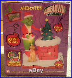 Dr Seuss How The Grinch Stole Christmas 6′ Tall Animated Airblown Inflatable