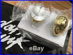 Daft Punk Official White & Gold Robot Helmet Ornament Set (Ltd. Ed. SOLD OUT)