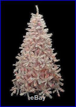 Dak 6.5′ Pre-lit White Cedar Pine Artificial Christmas Tree Multi Lights