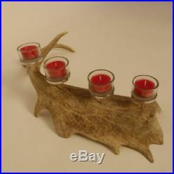 Damhirsch Geweih Kerzenständer Hirsch Horn Adventskranz Dekoration Weihnachten