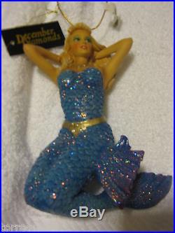 December Diamonds Mermaid AURORA ornament diamond mermaids -